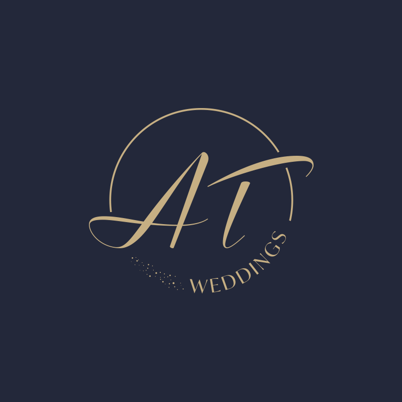 AT Wedding : création d'un logo design pour wedding planner