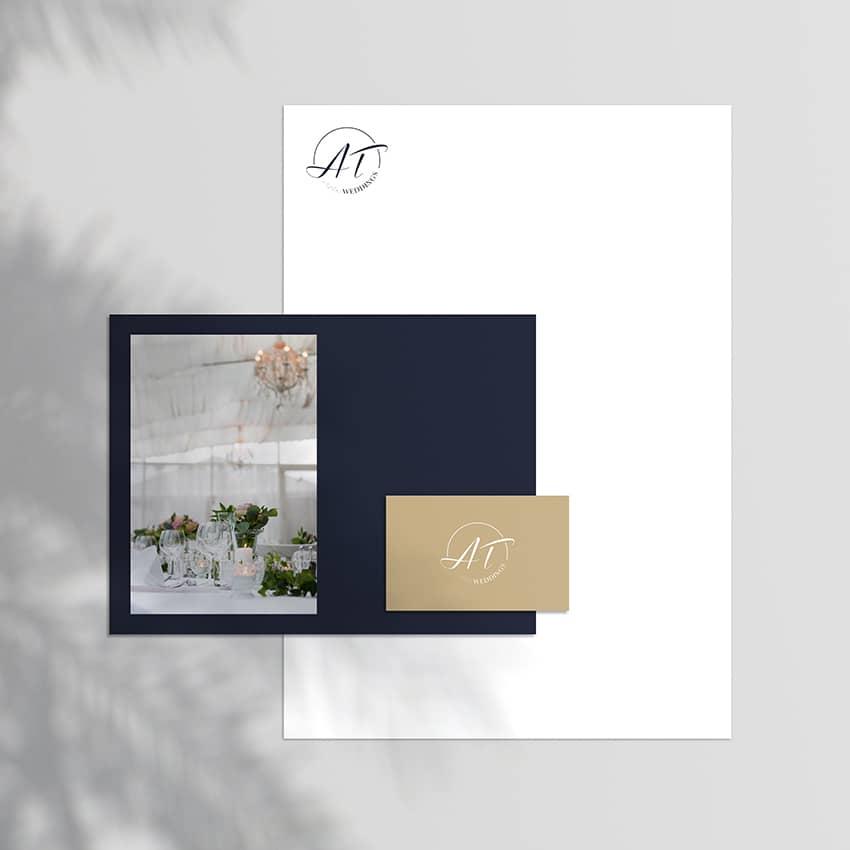 AT Weddings : création de logo d'un wedding planner