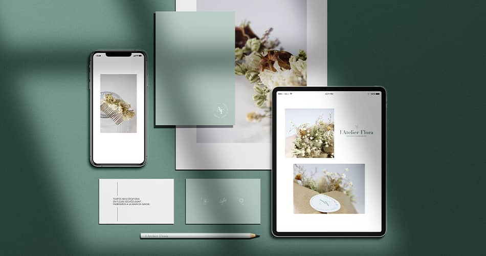 Atelier Flora : création d'un site internet sur-mesure sur WordPress.