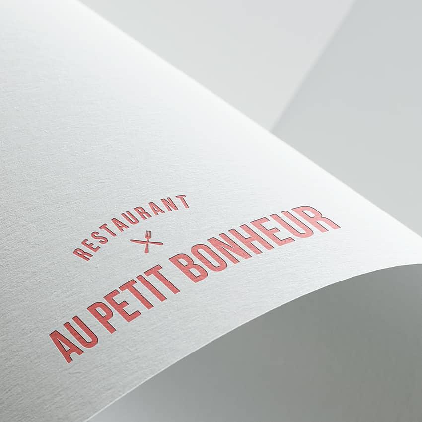 Au Petit Bonheur : création d'un logo pour un restaurant