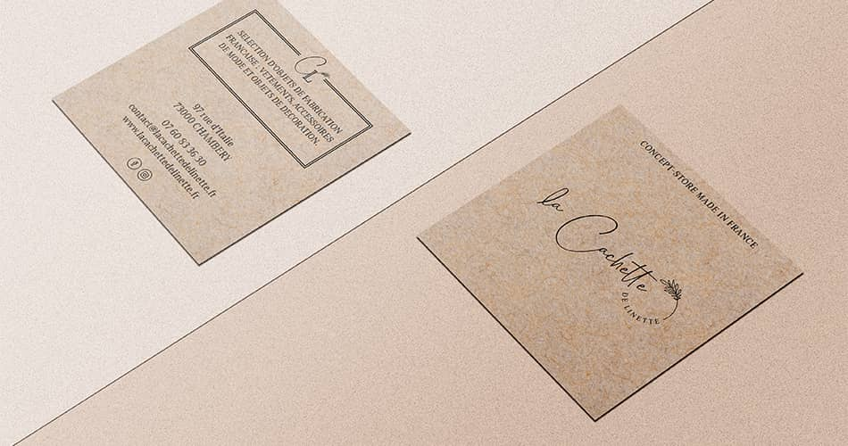 La Cachette de Linette : création d'un logo élégant