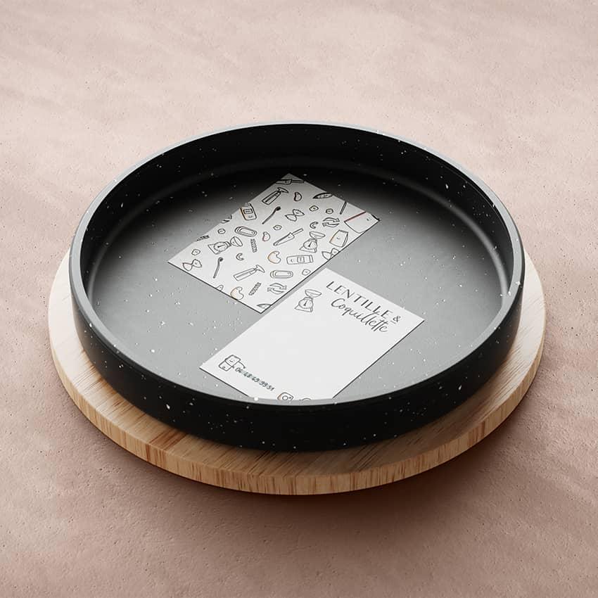 Lentille&Coquillette : création d'un logo pour une jeune marque audacieuse.